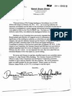 Letters to Senators regarding the PATRIOT Act