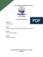 DOCUMENTOS PARA ESPECIFICACIÓN FORMAL DE REQUISITOS