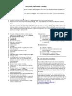 GW2013 Participant Equipment List-Behavior Standards