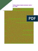 Analisis Struktural Roman Bumi Manusia Karya Pramodya Ananta Toer yang ditulis secara mendalam
