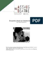 Encuentro Virtual Con Isidora Aguirre