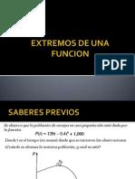 Extremos de Una Funcion - Tvalor Medio