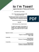 "Kristina Drzaic, ""Oh No I'm Toast!"