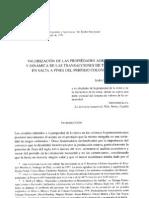 Mata, Sara - Valorización de las propiedades agrarias y dinámica de las transacciones de tierras en Salta a fines del período colonial.pdf