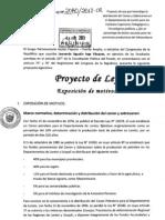 Proyecto de Ley N° 2080/2012-CR que modifica la distribución del Canon Petrolero