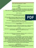(2) Linhas;falanges e legiões na umbanda