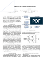 55.a DQ Synchronous Reference Frame Control for Single-Phase Converters