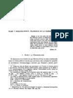 F. HERNÁNDEZ BOROUE - HUME Y MERLEAU-PONTY FILÓSOFOS DE LA EXPERIENCIA