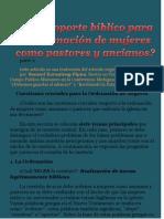 4. CG--+Hay Soporte Biblico Para Ordenar Mujeres-+ Parte 2 por Claudio Popa