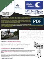 Convocatoria Final  para artistas La Noche en Blanco Bogotá
