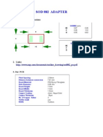 SOD882 / SOD923 / 0402 Board Adapter for prototyping