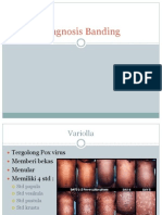Diagnosis banding varicella