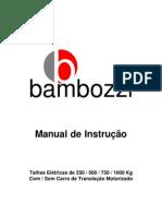 Bambozzi Talha Eletrica Manual de Instrucao 439669