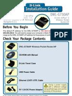 D-Link DWL-G730AP Quick Start Guide