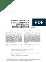 TIEMPO, TRABAJO Y CAPITAL EN MARX Y BOURDIEU
