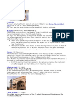 Islamic Holy Days