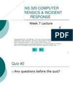 CNS 320 Week7 Lecture