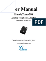 Grandstream HandyTone 286 Manual