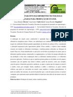 Estudo comparativo das diferentes tecnologias utilizadas para produção de etanol