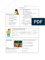 Mock Test_ Personal Information. Classroom Language