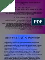 Ayat Alqur'an yang berhungan dengan Toleransi