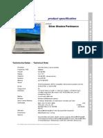 Gericom Silver Shadow Per4mance Datasheet