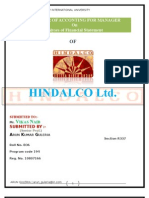 HINDALOC financial positon during last 5 year