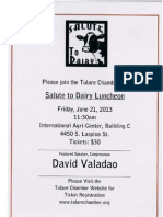 Tulare Chamber Salute to Dairy 2013