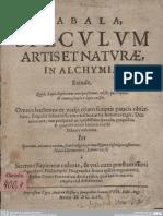Cabala Speculum Artis Et Naturae in Alchymia, 1654