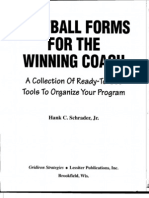 Football Forms for the Winning Coach