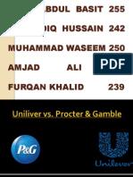 Uniliver vs Procter and Gamble