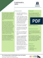 The Australian Study of Child Health In Same-Sex Families (ACHESS) - Interim report