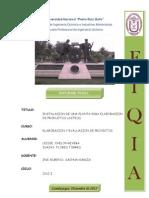 Evaluacion y Elaboracion de Proyectos (Productos Lacteos)