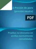 6.6Presión de poros o presión neutra