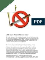 31 de Mayo Dia Mundial de No Fumar Uisana