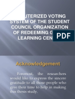 Voting System Thesis