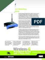 Linksys WRT54GP2 Datasheet