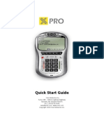 X-Pro Quick Start Guide