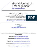 1Water, Equity and Development
