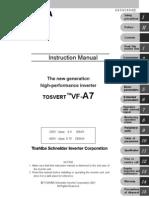 Inverter Toshiba VF-A7 Manual