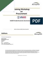 Training Workshop on Procurement