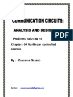 solution manual Communication Circuits  Clarke and Donald T. Hess