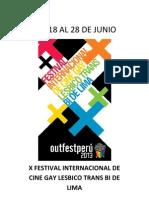 X Festival Internacional de Cine Gay Lesbico Trans Bi de Lima