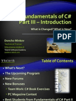CSharp Fundamentals Part III Introduction
