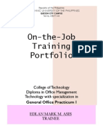 On-The-Job-Training (Practicum I)