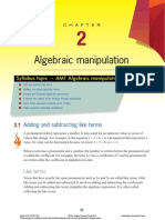 Chapter 2 Algebraic Manipulation