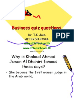 Business Quiz Questions