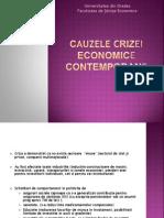 Cauzele crizei economica