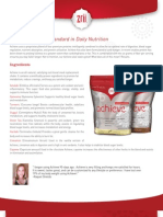 Achieve Nutrition Sheet