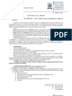 Siria - Acord Bilateral 2013-2014 Comunicat